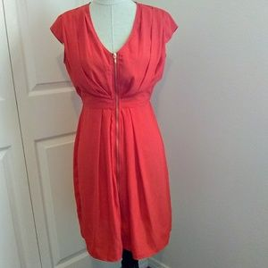 H&M bright orange dress